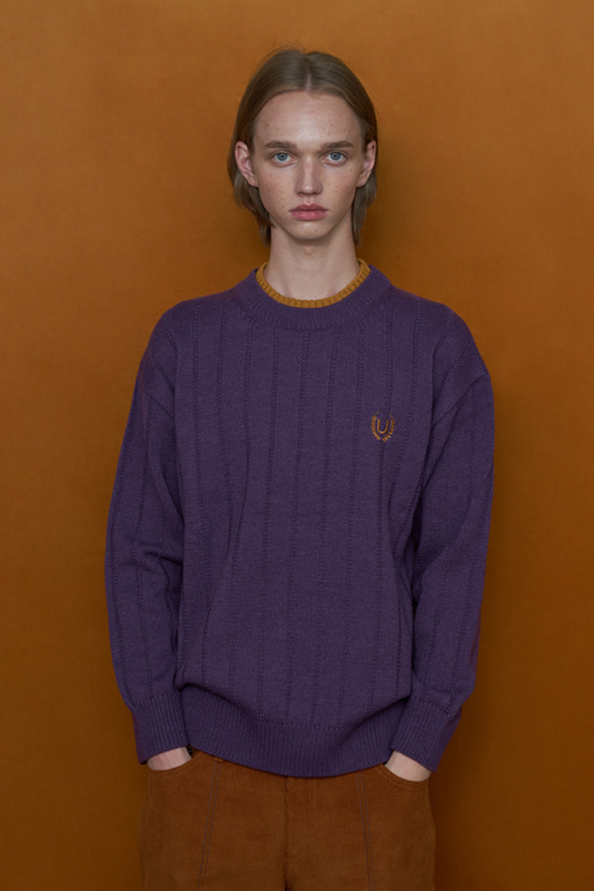 DOUBLE NECK KNIT / PURPLE