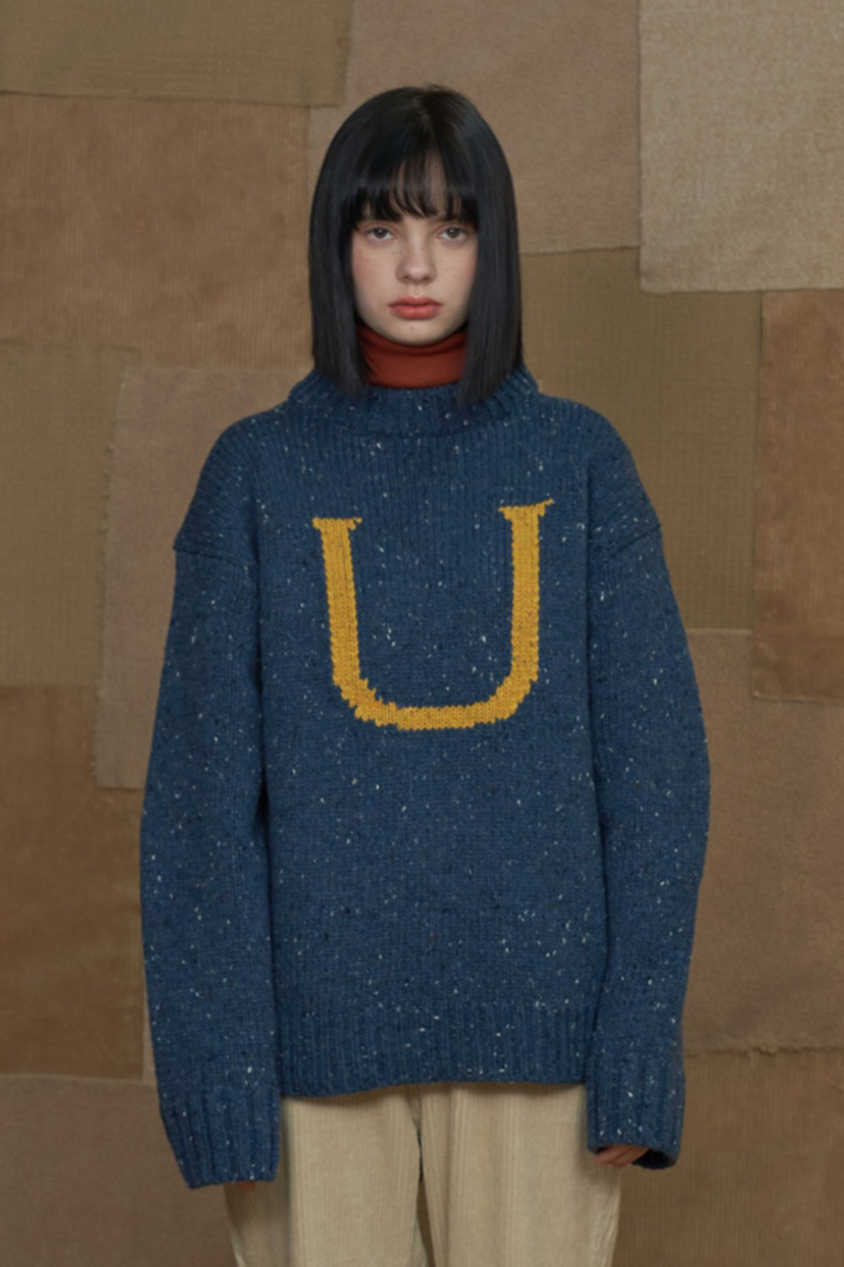U LOGO KNIT / BLUE
