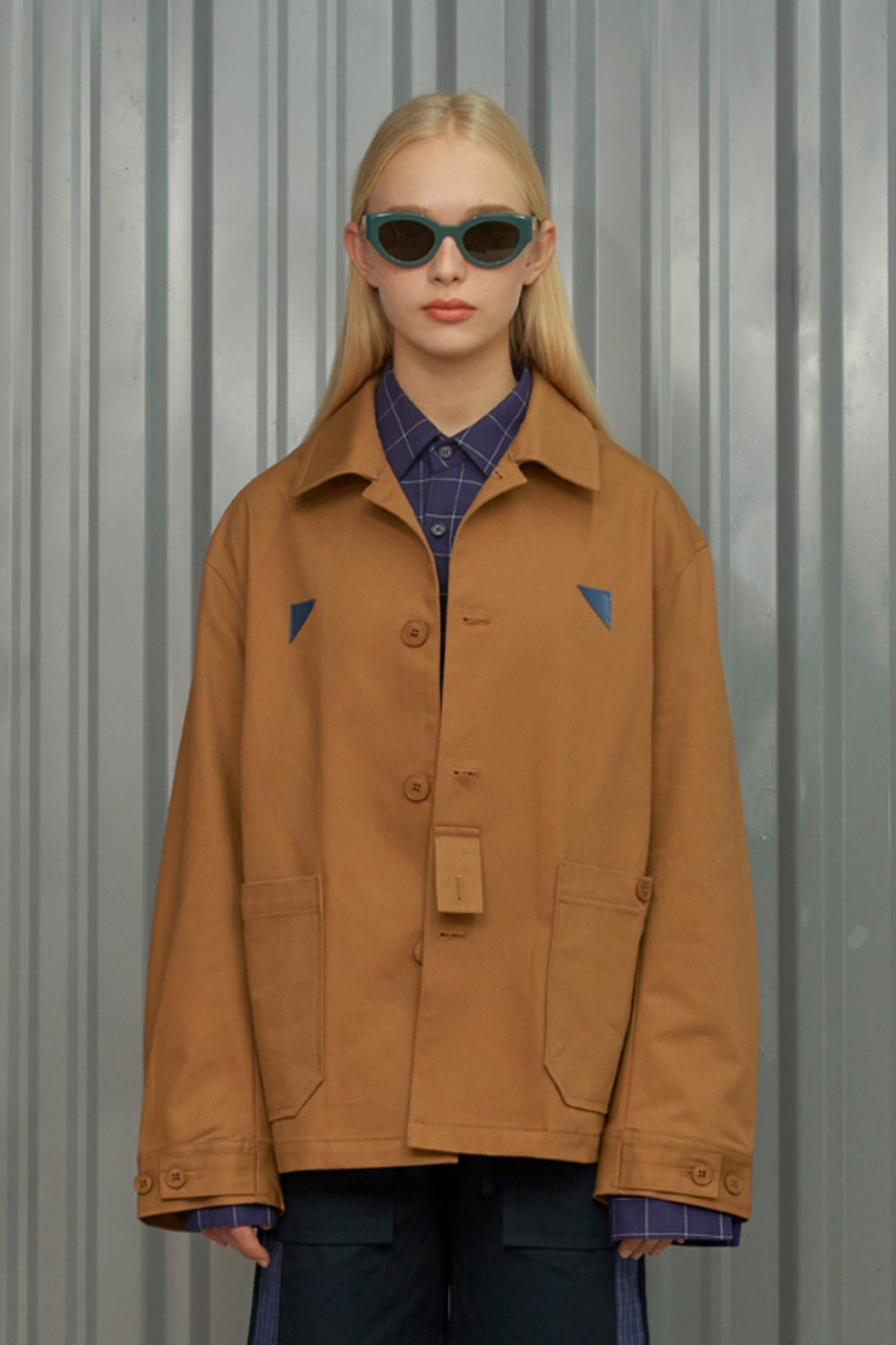 PATCH COTTON JACKET / CAMEL