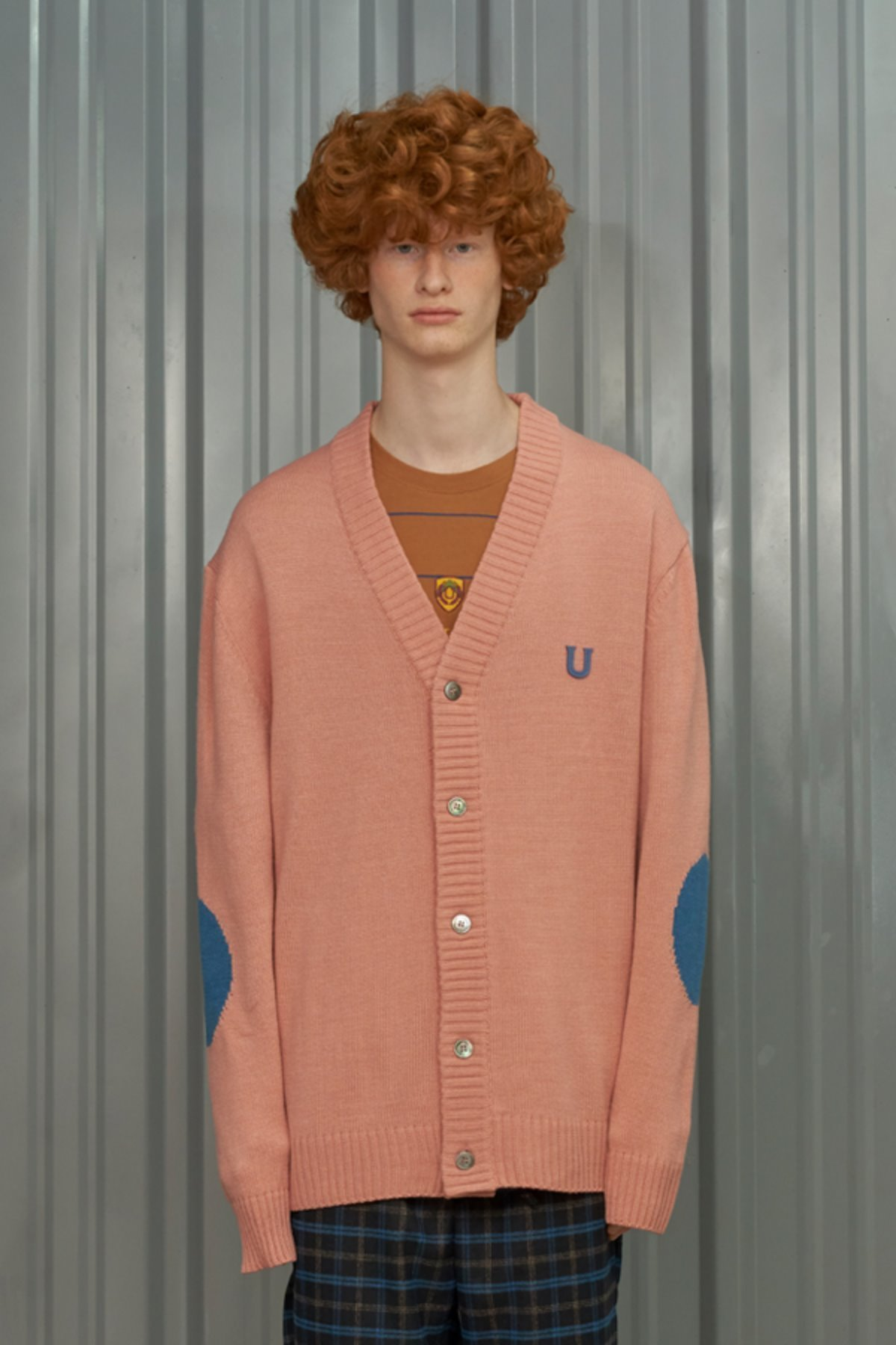 U PATCH CARDIGAN / PINK