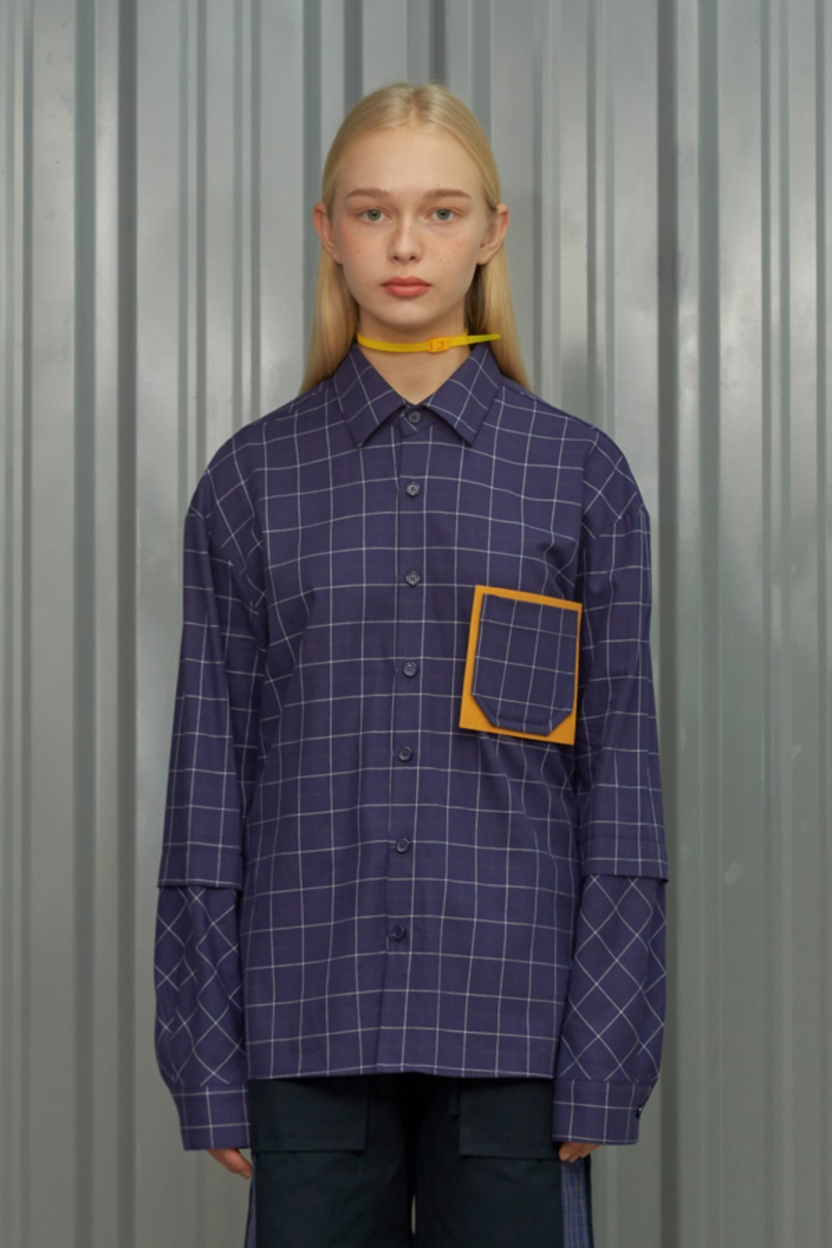 POCKET CHECK SHIRT / BLUE