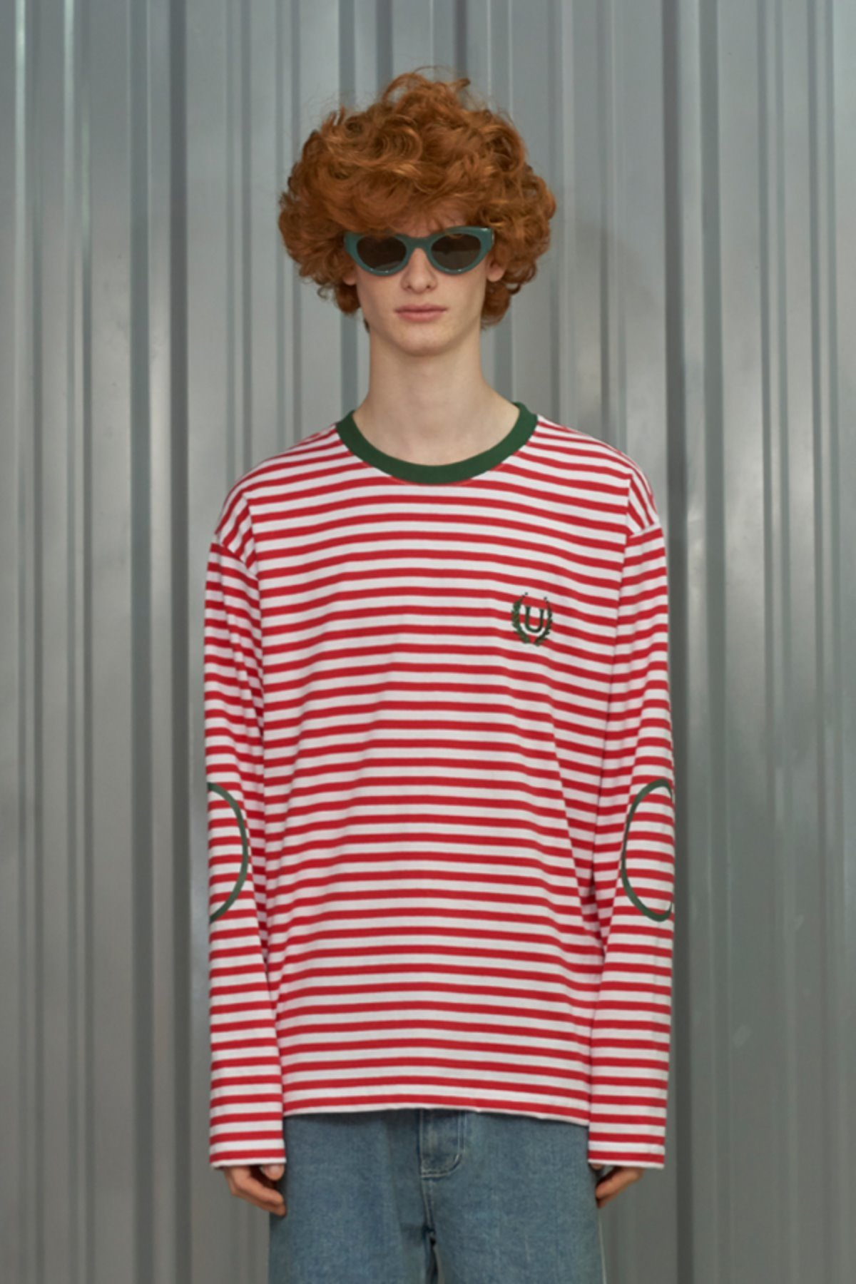 LAUREL STRIPE LONG SLEEVE T SHIRT / RED