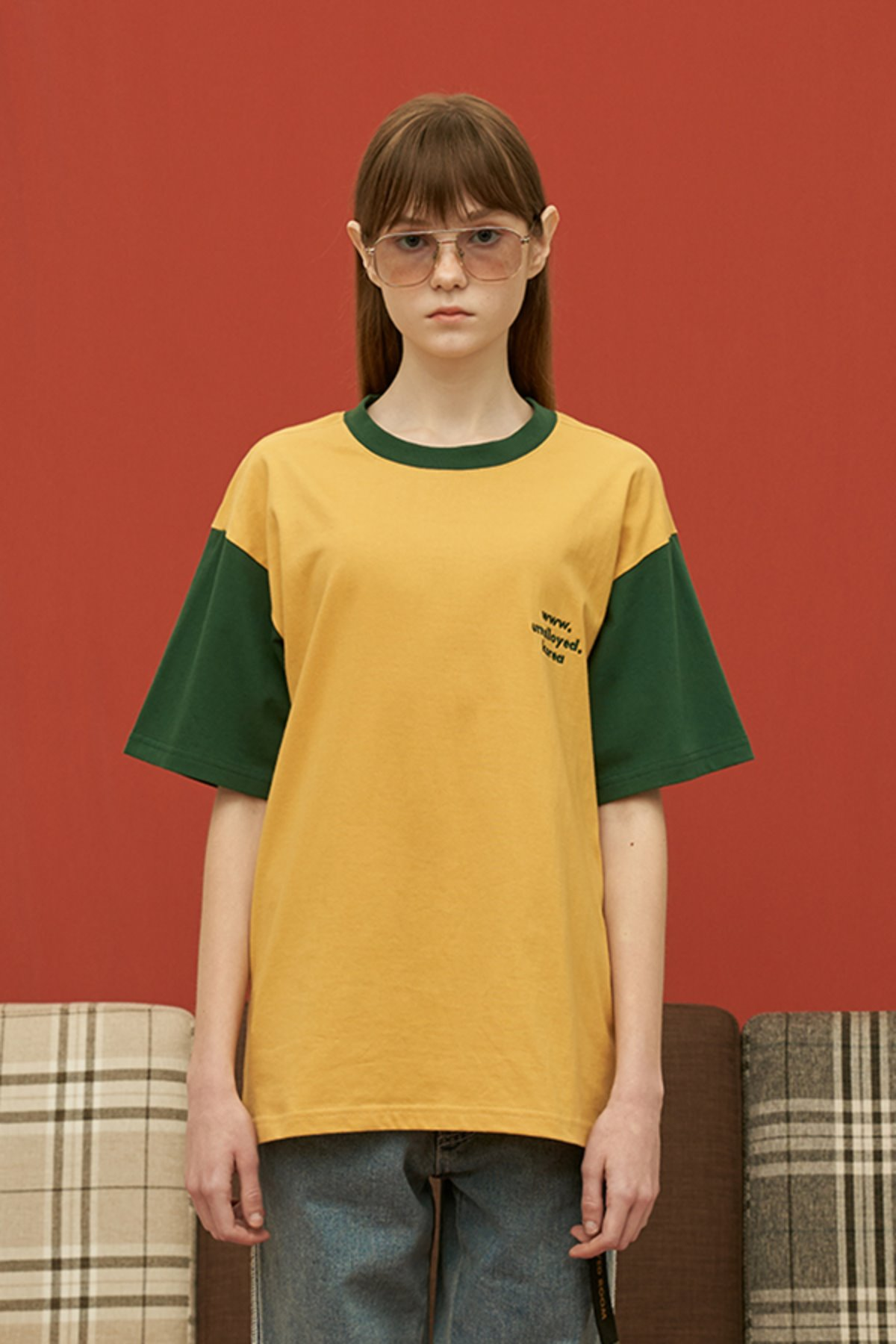 DOMAIN T SHIRT / YELLOW