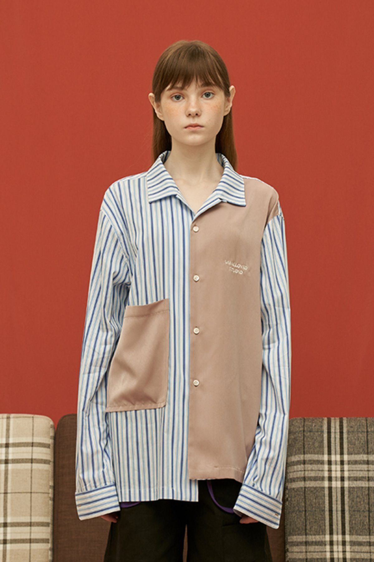 MIXED STRIPE SHIRT / BLUE