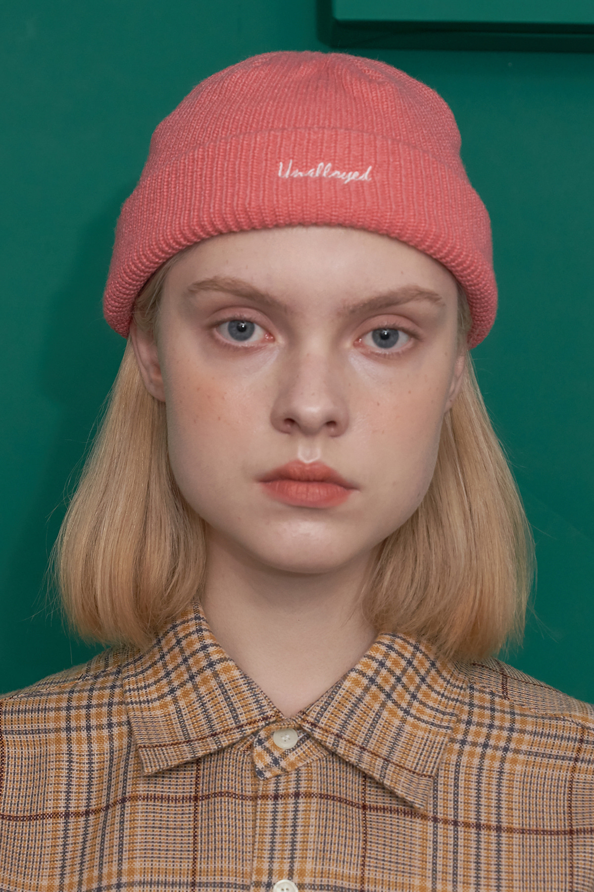 LABEL PATCH BEANIE / PINK