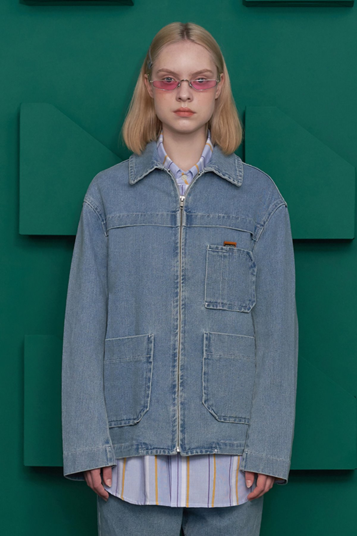 POCKET DENIM JACKET / LIGHT BLUE