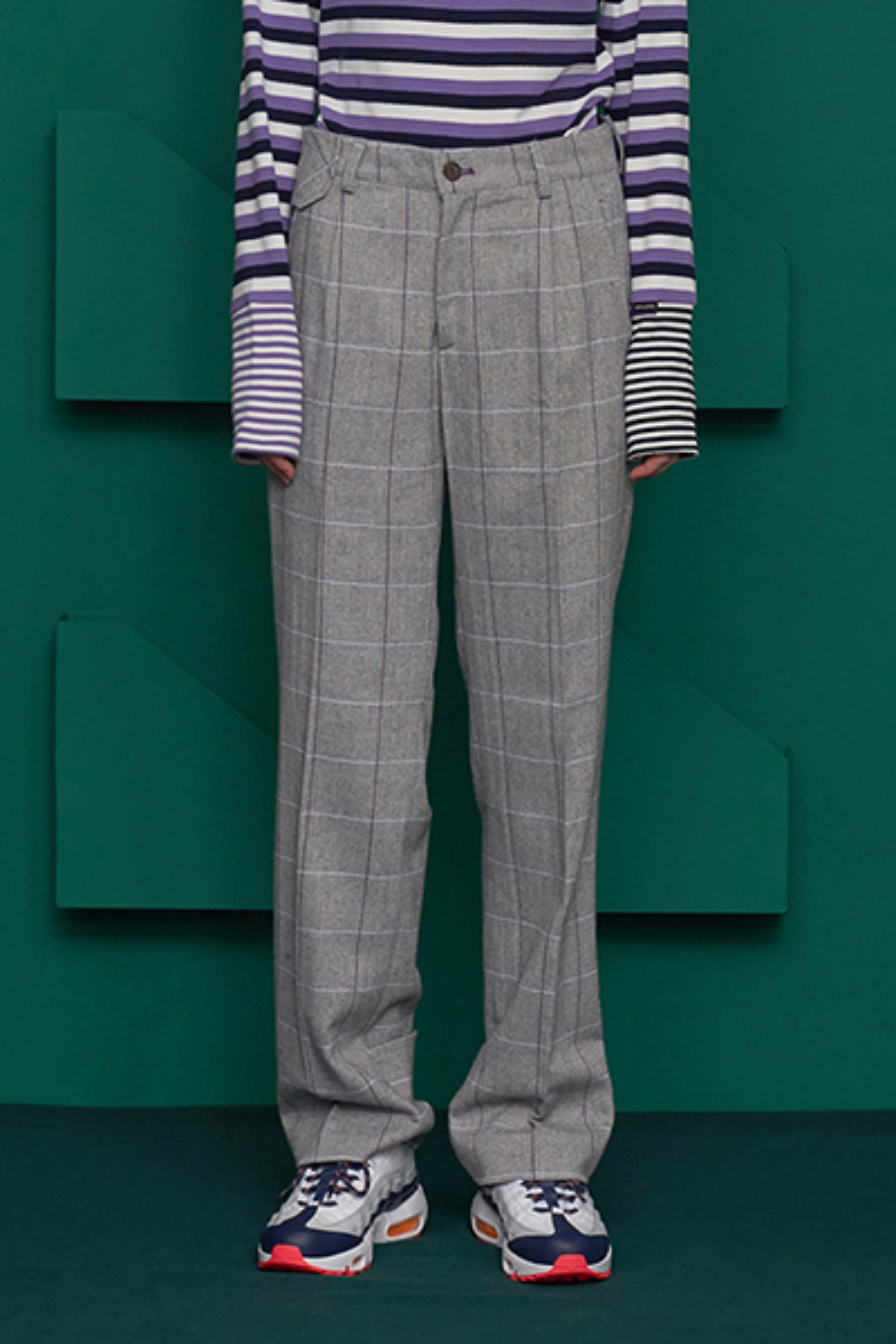 UL CHECK PANTS / GREY