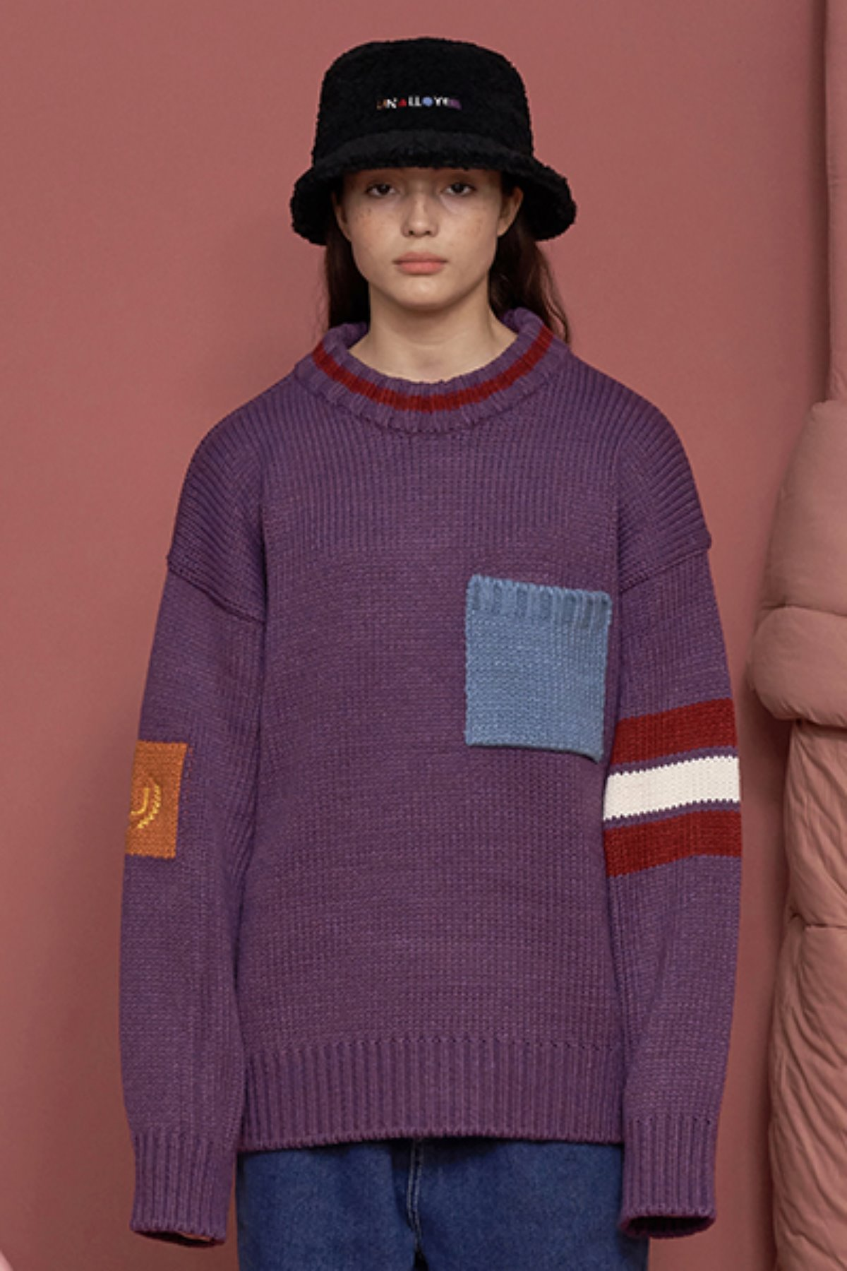 COLOR ROUND KNIT / PURPLE