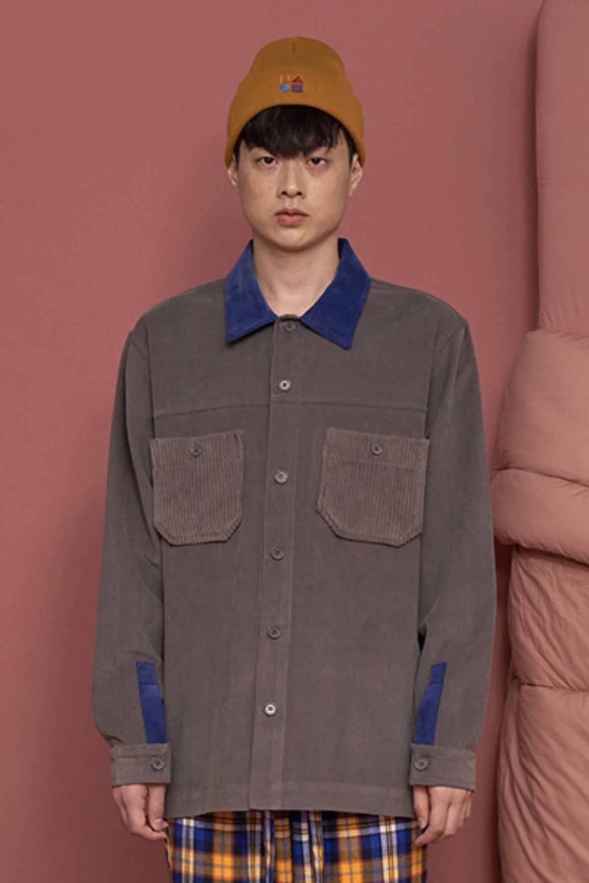 POCKET CORDUROY SHIRT / GREY