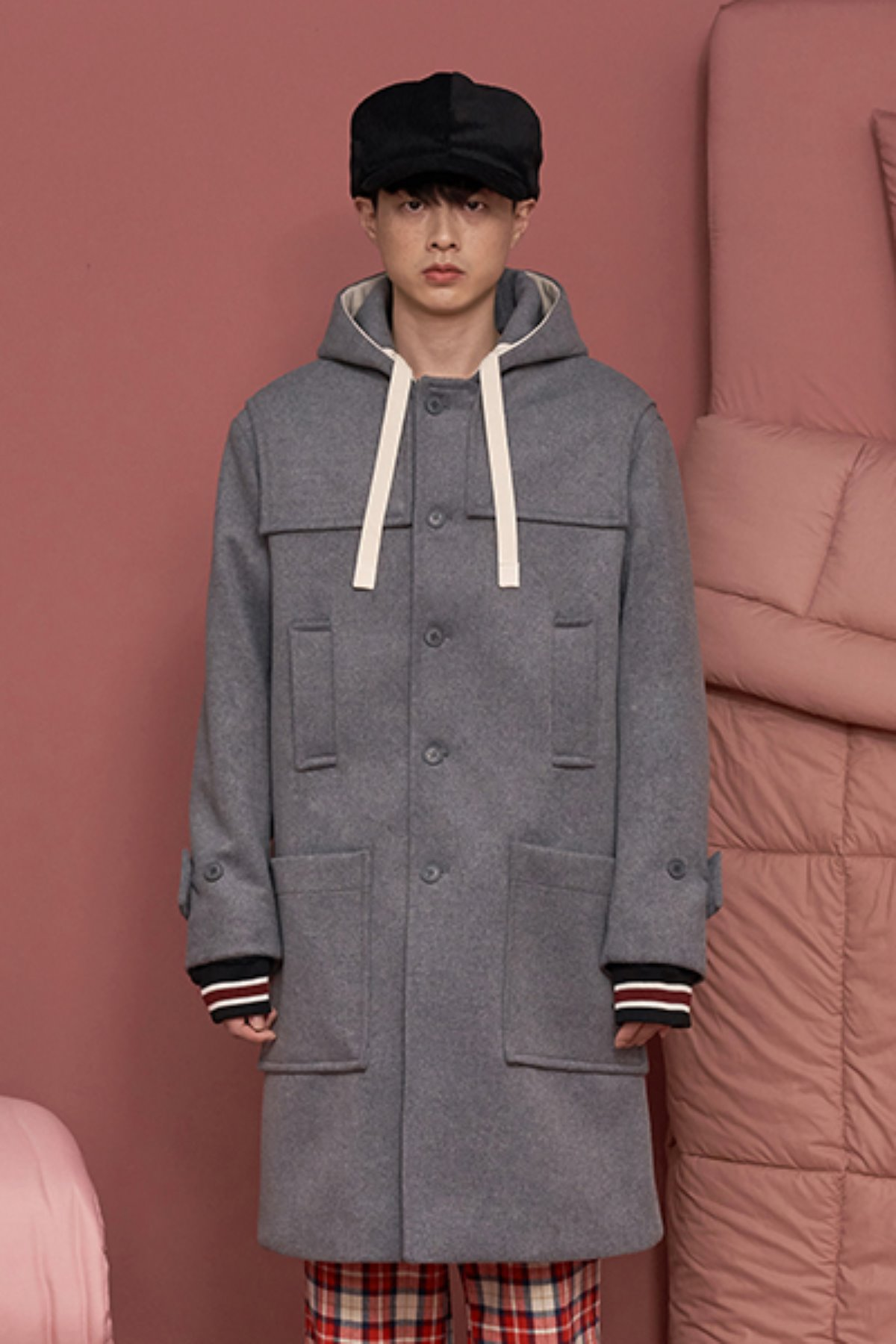 STRING DUFFLE COAT / CHARCOAL