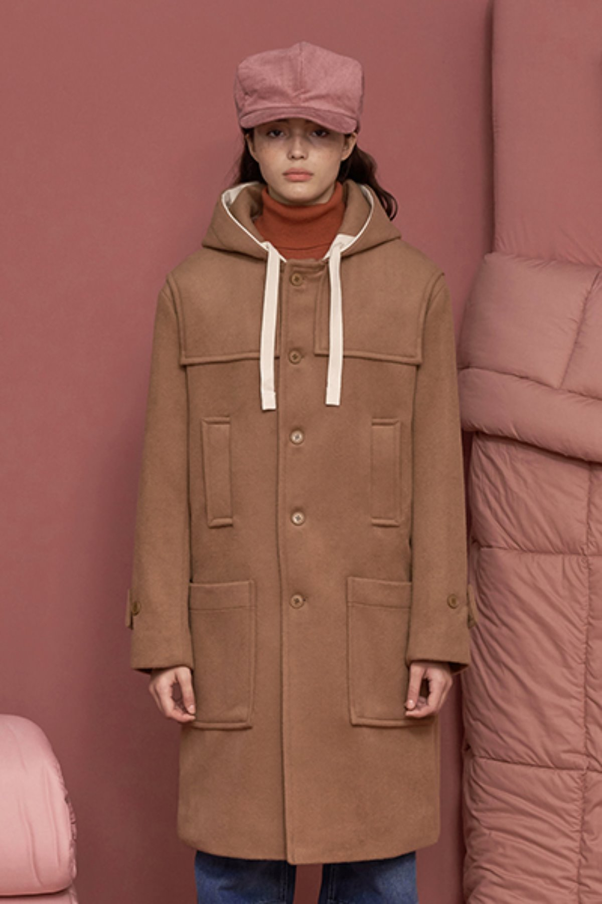 STRING DUFFLE COAT / BEIGE