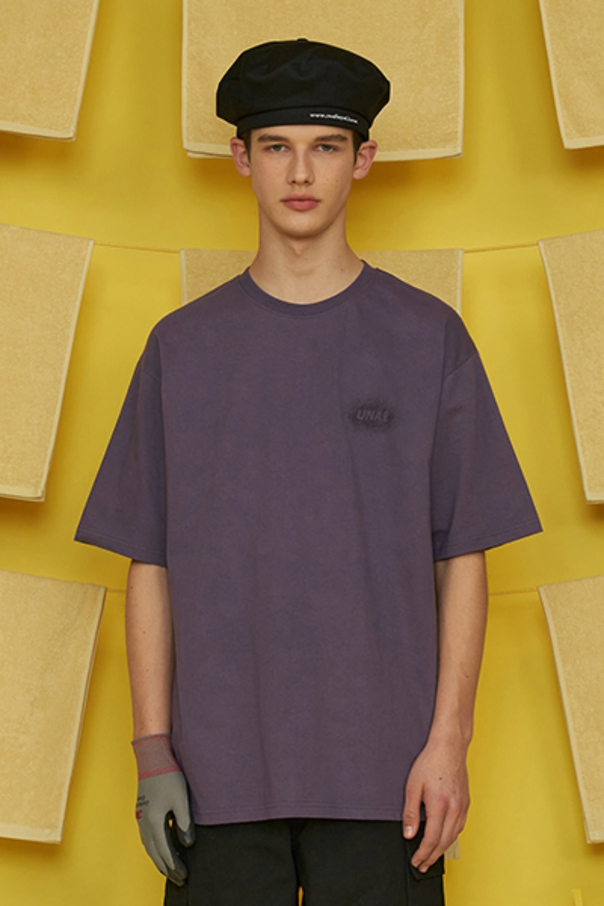WASHING LOGO T SHIRT / PURPLE
