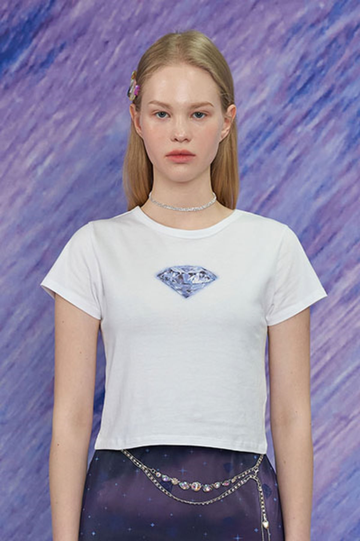 DIAMOND T SHIRT / WHITE