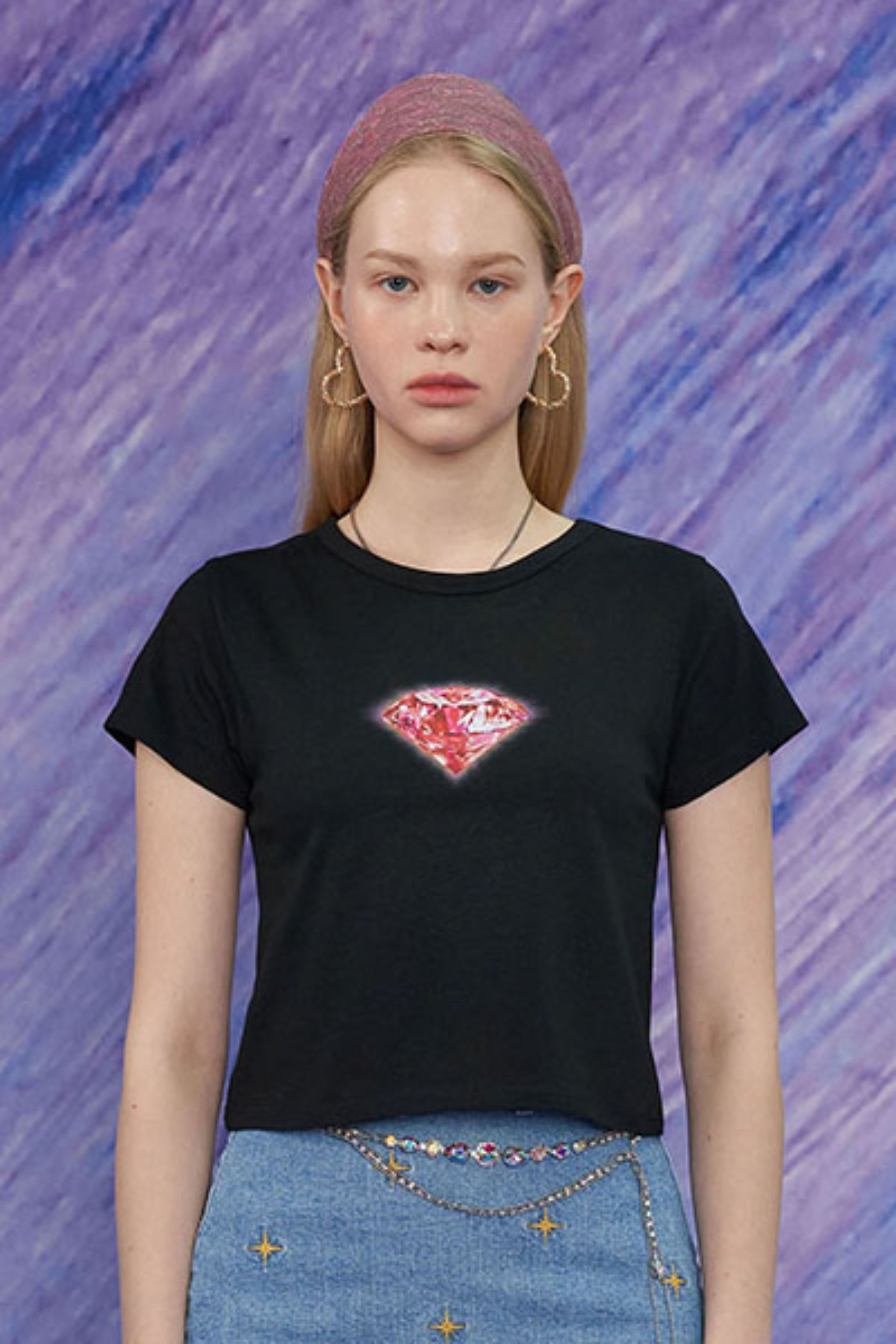 DIAMOND T SHIRT / BLACK